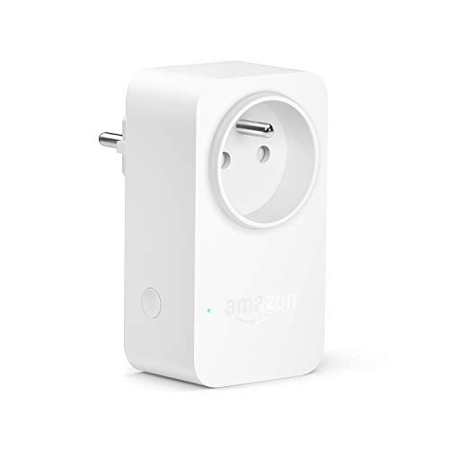 Amazon Smart Plug (Prise connectée WiFi), Fonctionne avec Alexa, Appareil Certifié pour les humains