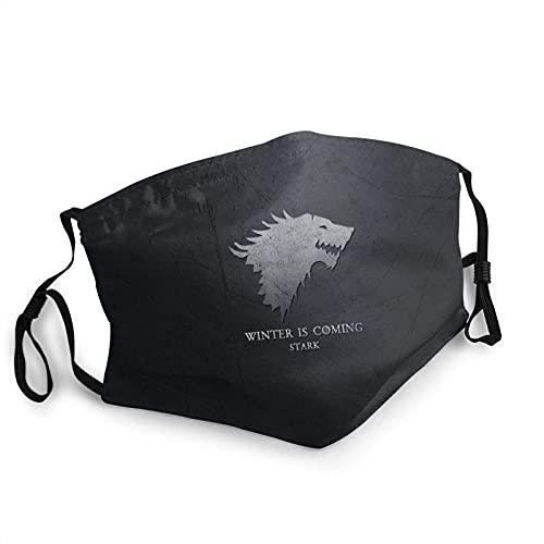 Classic Winter Is Coming House Stark - Máscara facial UV, máscara de sol, para motocicleta, bufanda mágica, para pesca, caza, correr, esquí