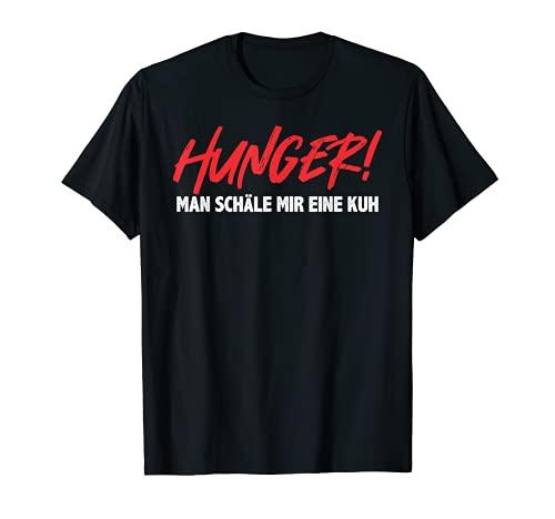 El hambre se esconde una vaca dieta Fastenkur Schonkost Camiseta