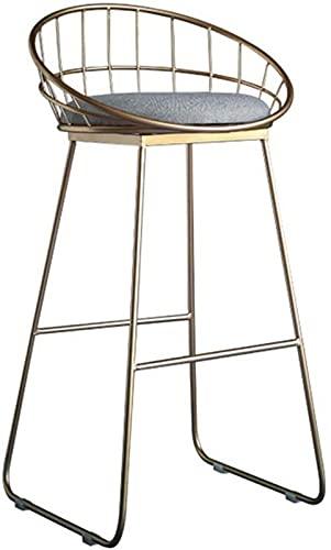 ZJDM Taburete de Bar Taburete de Bar de Hierro Forjado Taburete Alto Silla de Comedor Moderna Silla de Barra de Alambre (tamaño: 75 cm)