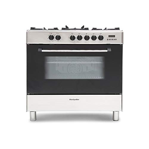 Montpellier MR91DFMX 90cm Single Cavity Dual Fuel Range Cooker - Stainless Steel