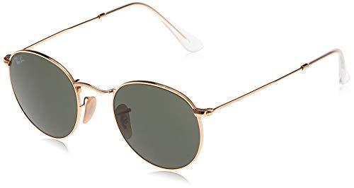 Ray-Ban Unisex - Adulto Rb 3447 Occhiali da sole, Oro (Verde Classica,, 47 mm