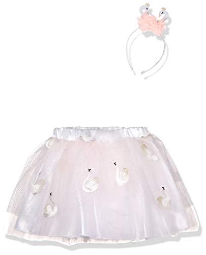 amscan 9904243 Costume with Glitter Swan Headband Child Age Years-1 PC Pinkes Tutu-Kostüm mit glitzerndem Schwanen-Stirnband M/L Alter 9-13 Jahre – 1 Stück