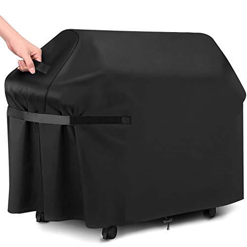 GARPROVM Funda para Barbacoa Impermeable 147x61x122cm, Cubierta para Barbacoa 420D Oxford, Protector para Barbacoa Anti Viento/UV/Impermeabilidad para Weber, Brinkmann,Outback,Char Broil etc