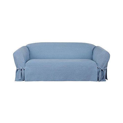 SURE FIT Authentic Denim One Piece Sofa Slipcover - Chambray (SF44740)