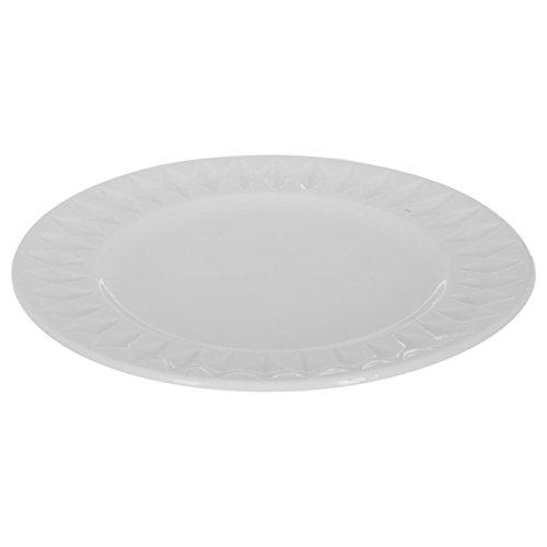 Lot de 6 Assiettes /à DessertDiamant 20cm Blanc Secret de Gourmet