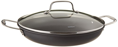 Cuisinart 625-30D Chef's Classic Antihaft-Hartanodisierte 12-Zoll-Alltagspfanne mit mittelgroßem Kuppeldeckel's Classic Nonstick Hard-Anodized 12-Inch Everyday Pan with Medium Dome Cover