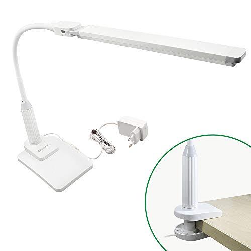 Klemm und Desktop LED Schreibtischleuchte Bürolampen Leseleuchte LED 5W Dimmbar Tageslicht 5000K Desktop und Klemme Zwei Verwendungen 4 Stufen Dimmbare Helligkeit von Enuotek