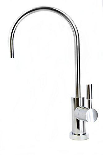 Grifo con filtro de agua, de largo alcance, cuello de cisne, moderno estilo europeo, compatible con todos los sistemas de filtro de agua y sistemas de ósmosis inversa