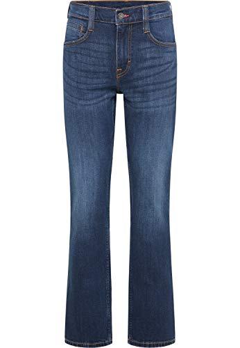 MUSTANG Herren Jeans Oregon - Bootcut - Blau - Light Blue - Mid Blue - Dark Blue - Black, Größe:W 34 L 30, Farbe:Dark Blue Denim (982)
