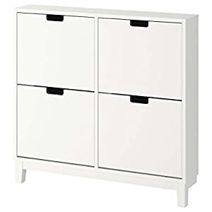 Ikea Ställ Zapatero con 4 compartimentos 96 x 17 x 90 cm, blanco