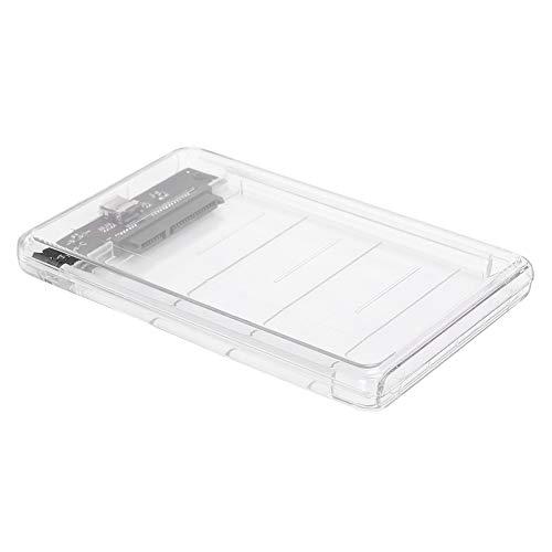 Exliy Caja de Disco Duro, chasis de Disco Duro Transparente...