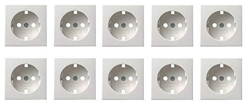 10x Gira Abdeckung KEINE STECKDOSE System 55 - Reinweiß glänzend