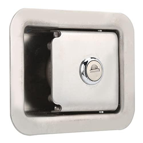 Cerradura de panel de grupo electrógeno, cerradura de puerta de remolque cuadrada cerradura de puerta de camión cerradura de puerta de acero inoxidable con 2 llaves cuadradas para caja de