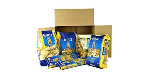 De Cecco Box Italienische Pasta ( 6 x 500g ) 5 verschiedene Formate ( Paccheri - Spaghettoni Quadrati- Penne Rigate - Tagliatelle all'uovo - Tortiglioni )