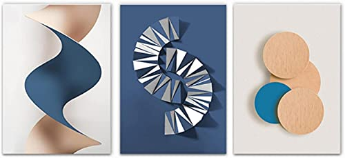 Art The Picture For Gradient Circle Origami Geométrico Lienzos Carteles e impresiones Pintura abstracta Cuadros de pared para sala de estar 3 piezas 60x80cm sin marco