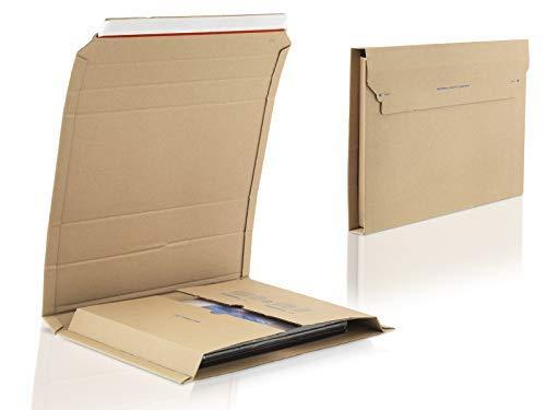 WPTrading 100 Buchverpackungen 370x290x20-75 mm (MW367)