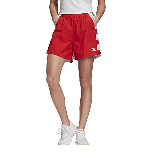 adidas LRG Logo Short, Pantaloncini Sportivi Donna, Lush Red/White, 34