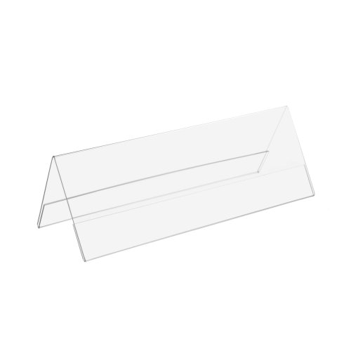 Tischnamensschild / Werbeaufsteller / Tischständer 1/2 Din A4 je Seite (Din A4 Blatt längs gefalzt)