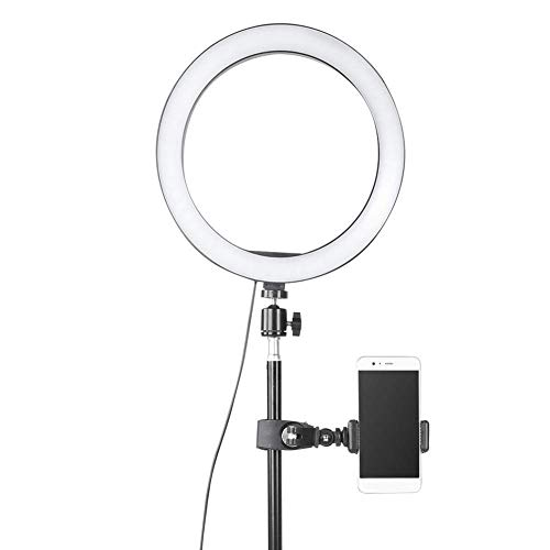 Kücheks LED Ring Light, Dimmable10 inch LED Ring Light,USB Camera Video Lamp with Tripod Phone Clip Set for makeup,Live broadcast,Tattoo.