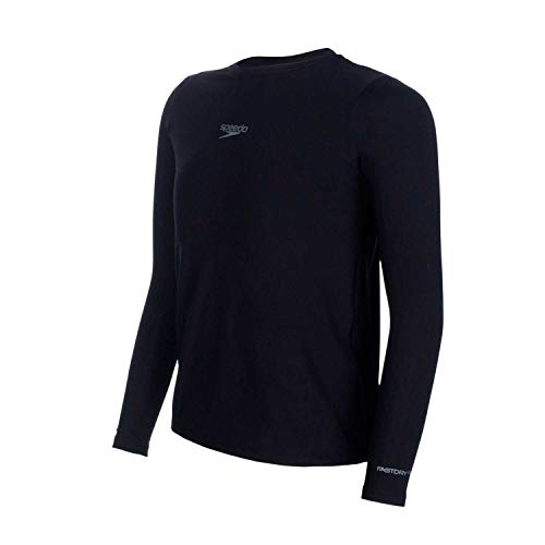Speedo UV Protection M/L Camiseta de Manga Comprida, Unissex, Preto, 4