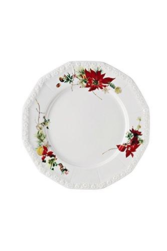 Rosenthal Maria Winter Rose platte bord, porselein, rood, 28 x 27 x 7 cm