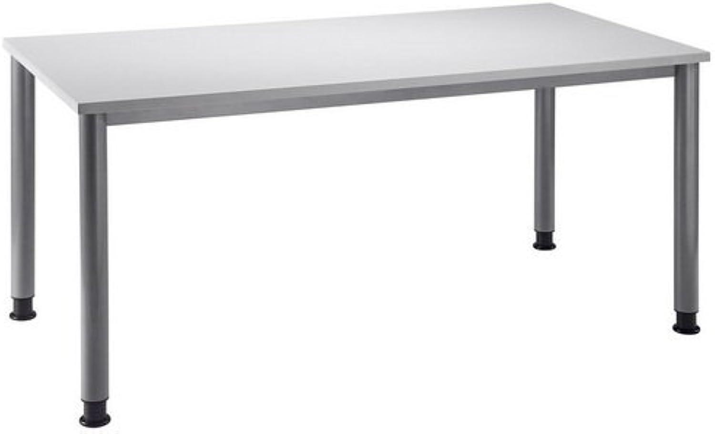 Unbekannt Schreibtisch Hilo 160 x 80 Grau Alu