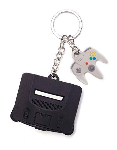 Nintendo - 64 y controlador 3D llavero de goma