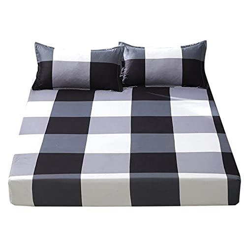 Emoshayoga Sábana Ajustable Accesorios de Ropa de Cama Que no se desvanecen fácilmente para colchón de 4-27 cm / 1,6-10,6 Pulgadas de Altura(Single Pillowcase)