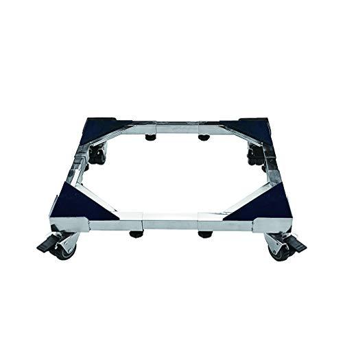 Appliance Rollers Heavy Duty with 4×2 Locking Swivel Wheels Move Washing Machines Base Stent Extendable Dishwashers & Tumble Dryers Adjustable 45-66cm Fridge Freezer Trolley Load 500kg