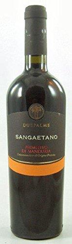Sangaetano Primitivo di Manduria DOP 2018 Cantine Due Palme, trockener Rotwein aus Apulien