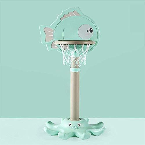 Portable basketball stand Height Adjustable 120-160cm Basketball Hoop Basketball Stand Indoor Outdoor 3 Colors Optional Sport Game For Children Juniors Basketball backboard (Color : Green)