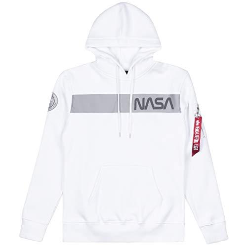 Alpha Industries NASA RS Hoodie Weiß M