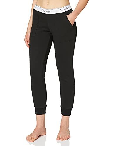 Calvin Klein Damen Bottom Pant Jogger Sporthose, Schwarz (Black 001), W(Herstellergröße: L)