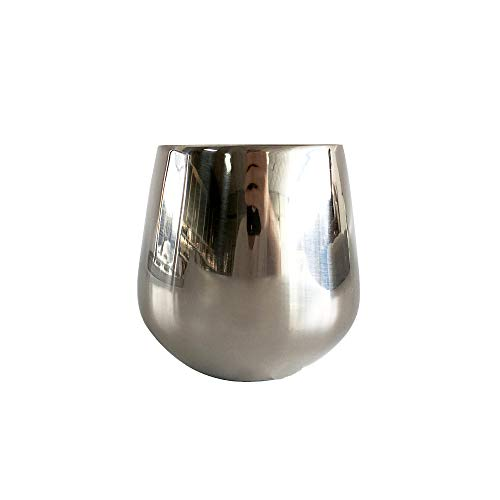 SUNHAO Stainless steel cup Roestvrijstaal 304 Double Whisky cup Champagne Cup boek Beker cocktail Beker glas B