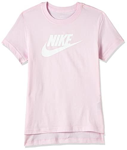 NIKE NSW Dptl Basic Futura - Camiseta para Hombre, Hombre, Camiseta, AR5088, Pink Foam/White, Extra-Small