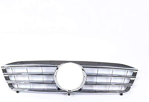 XHNICE Kühlergrill Stoßstangengrill, Geeignet Für Mercedes-Benz W203 C230 C320 C240 4 Lamellen 2001-2007, Silber, Silber