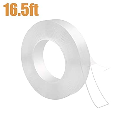 Nano Magic Traceless Washable Adhesive Tape, Ayager Reusable & Removable Double Sided Gel Grip Tape High Tensile Strength for Glass, Metal, Carpet, Cabinets or Tile Nano Tape