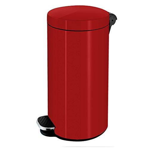 Frandis - p354100 - Poubelle à pédale 30l rouge