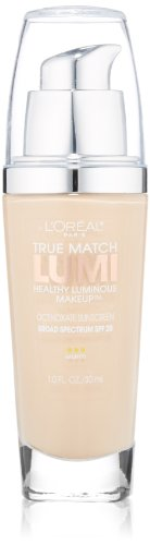 L'Oreal Paris True Match Lumi Healthy Luminous Makeup, W1-2 Porcelain/Light Ivory, 1 fl. oz.