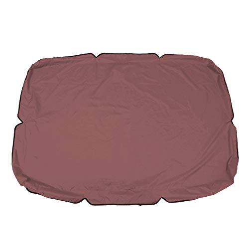 Suading Cubierta de repuesto para toldo de jardín o patio, impermeable, 3 plazas, 190 x 132 x 15 cm, color marrón