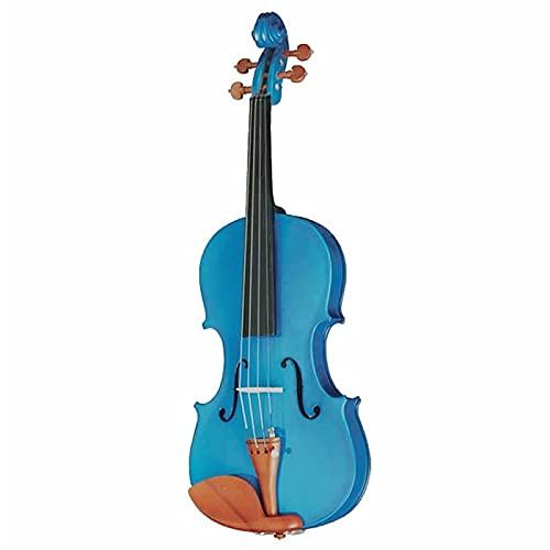 Instrumento musical del violín de color amarillo rosado azul negro púrpura SHANDZ (Color : Blue)