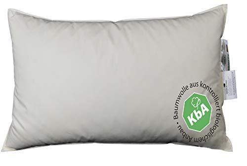 Vitaschlaf® Bio Luxe KBA Daune Kissen Organic GÄNSE Deutsche Qualitat alle Größen 30% Daune (50x70cm MITTELFEST)