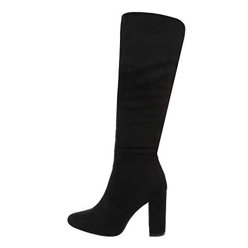 Ital Design Damenschuhe Stiefel High Heel Stiefel Synthetik Schwarz Gr. 38