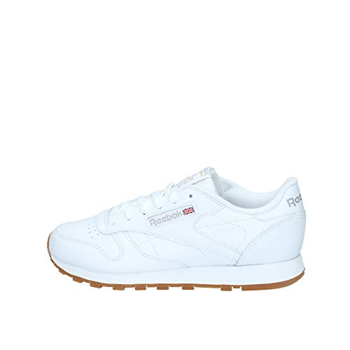 Reebok Classic Leather Zapatillas, Mujer, Blanco (Int-White / Gum), 39 EU
