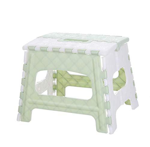 WenX Draagbare klapstoel, kunststof opvouwbare kleine bank, voor in de badkamer, voor kinderen en volwassenen, voor in de open lucht groen