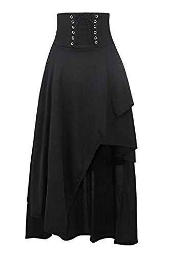 Sopliagon La Mujer De Maxi Falda Lolita Gothic Victorian Steampunk Faldas Black M