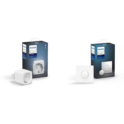 Philips Hue Enchufe Smart Plug, con Bluetooth, Compatible con Alexa y Google Home + Philips Hue Interruptor Smart Button, con Bluetooth y Compatible con Alexa y Google Home