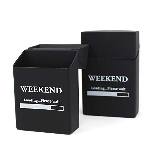 2x Zigaretten-box Silikon | Update 2019 | Weekend | Zigarettenhülle - Zigarettenetui | passend für Zigarettenschachtel Standardgröße | auch 21er Schachtel | | 📦 | 🇩🇪 | ✅ | 😊 |🥇