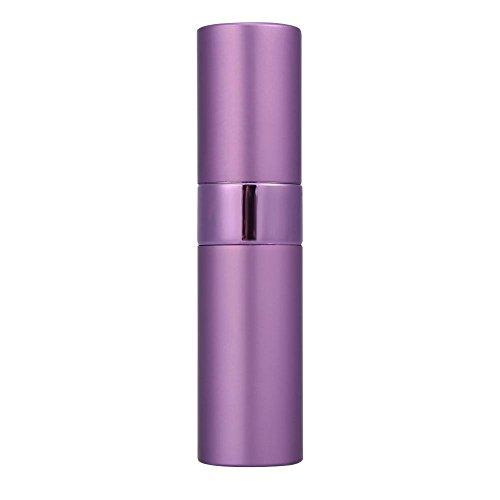Bouteille de parfum - bouteille cosmétique Portable Mini bouteille de parfum en verre en aluminium atomiseur de parfum voyage 4 couleurs outil cosmétique(Violet)